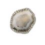 Light Grey Geode and Diamond Ring