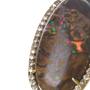 Yowah Opal and Diamond Ring