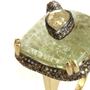 Green Beryl and Diamond Snake Ring