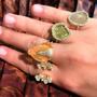 Irregular Diamond Finger Cuff