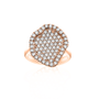 Geode Inspired Pave Diamond Ring