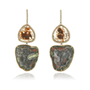 Geode and Diamond Slice Earrings