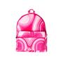 Pink Malachite Printed Backpack