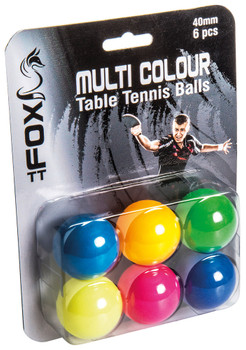 Fox TT Coloured Table Tennis Balls (Pack of 6