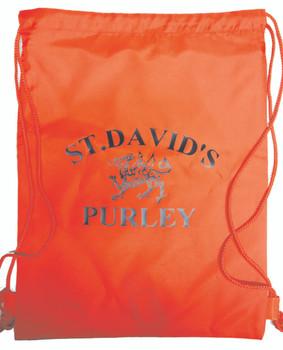 St Davids Red PE Bag