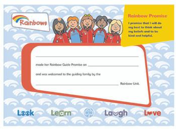Rainbows Promise Certificate