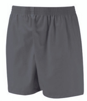 Navy Poly Cotton Sports Shorts