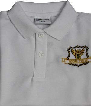 High View White Polo Shirt
