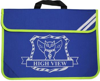High View Blue Bookbag