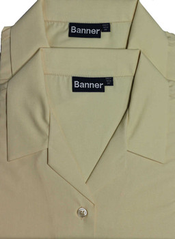 St Philomenas Short Sleeve Twin Pack Blouses Tussore (Banner)