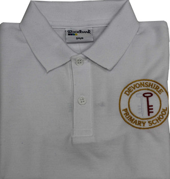 Devonshire White Polo Shirt