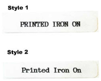 100 Iron On Name Tapes