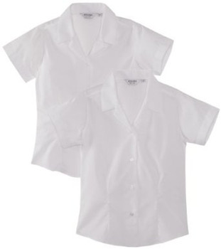 Trutex White Rever Short Sleeve Blouses (2 Pack)