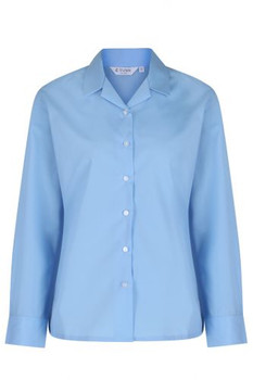 Long Sleeve, Non Iron Rever Collar Blouses - Twin pack