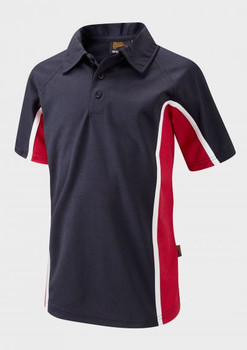 Glenthorne PE Polo Navy/Red
