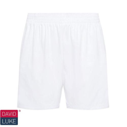 White Poly Cotton Sports Shorts