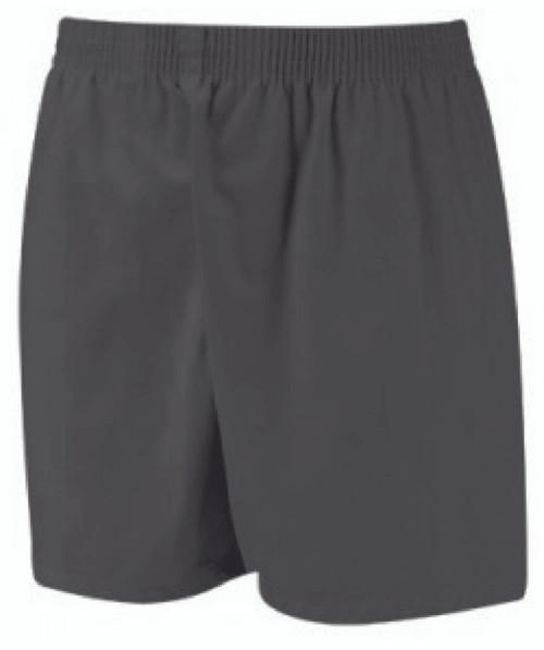 Black Poly Cotton Sports Shorts