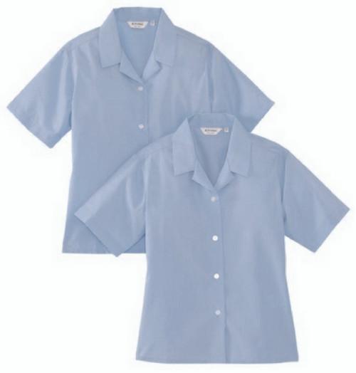Rever Short Sleeve Sky Blouses Twin Pack (Trutex)