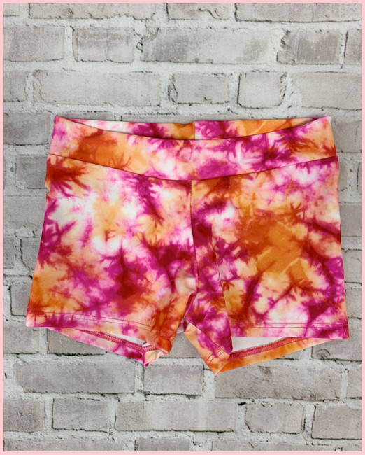 Printed Shorts - Orange & Pink Tie Dye - Adult