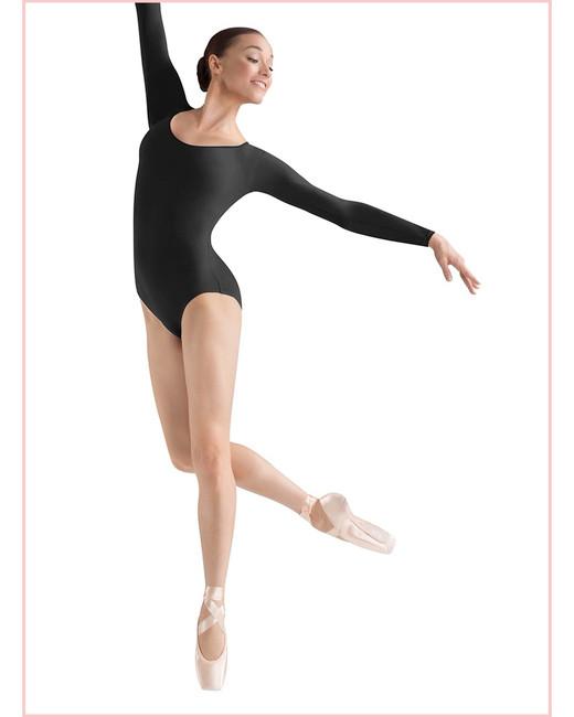 Ladies Basic Long Sleeve Leotard L5609  - Adult - Black