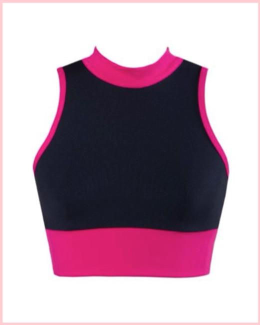 Willow Crop Top - Pink & Black
