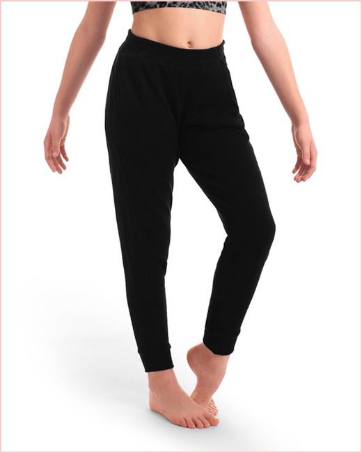 Aubrey Loose Leg Track Pant with Pockets - Black