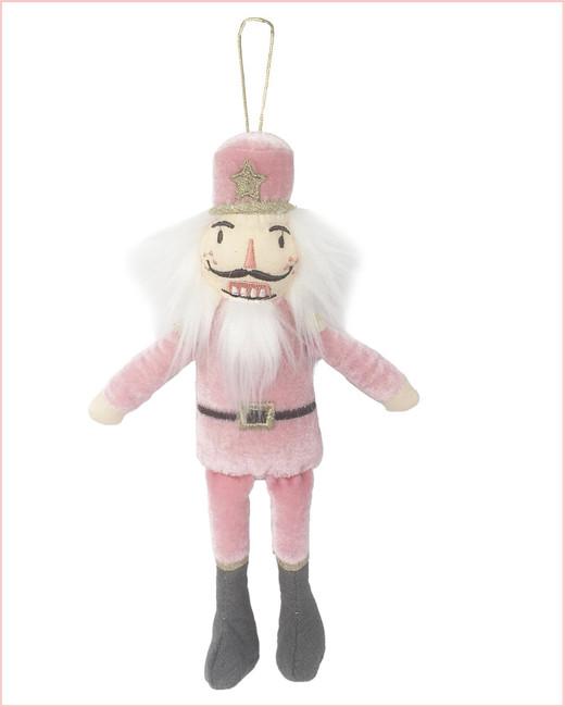 Pink Nutcracker Christmas Ornament