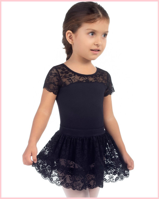 Butter Cup Lace Skirt - Black