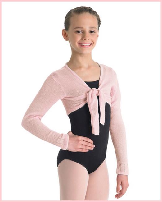 Crop Tie Front Top - Girls - Pink