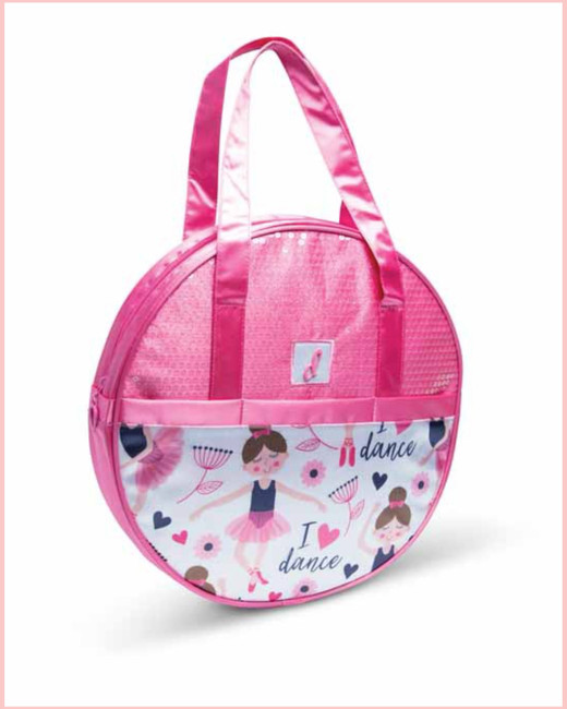 I Love Dance Ballerina Hat Box Tote