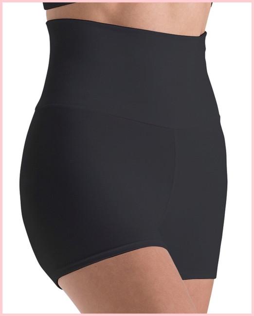 High Waisted Shorts - Black Silken - Adult