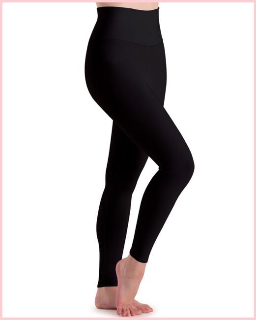 High Waist Ankle Legging - Adult - Black Silken