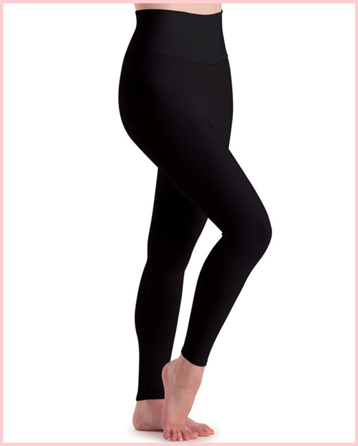High Waist Ankle Legging - Child - Black Silken