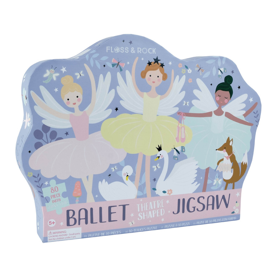 """80pc """"Theatre"""" Shaped Jigsaw with Shaped Box - Ballet"""