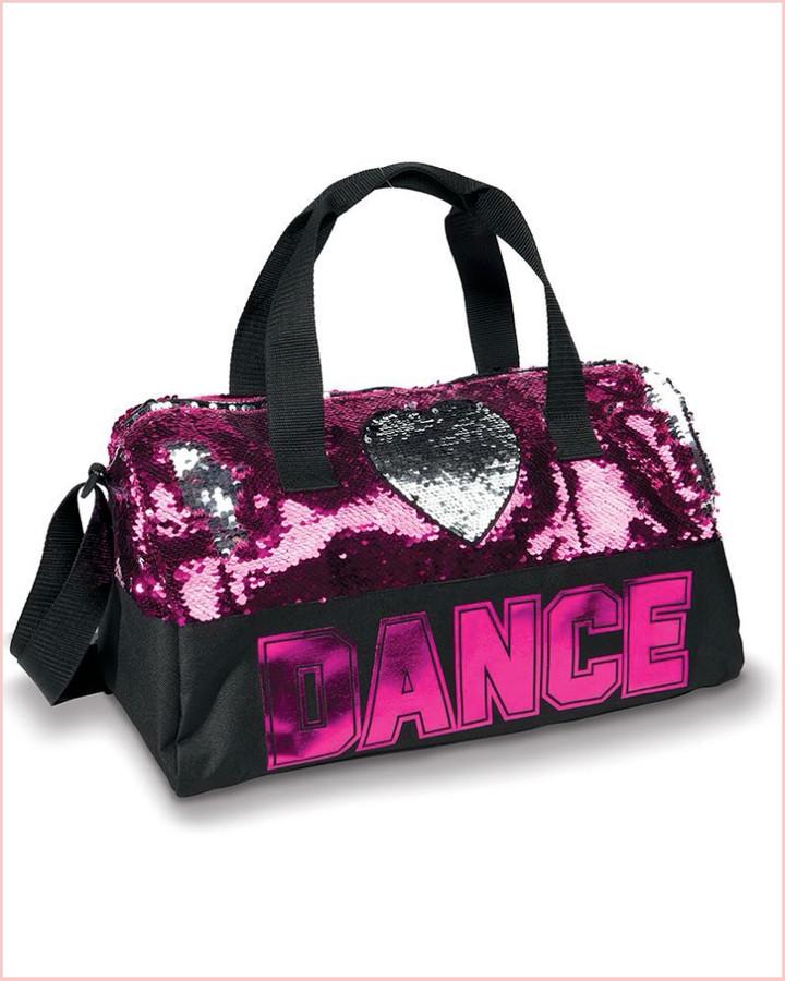 Dance Sequin Heart Duffel - Pink
