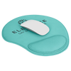"9"" X 10 1/4"" Teal Laserable Leatherette Mouse Pad"