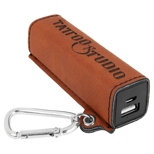 Rawhide Laserable Leatherette 2200 Mah Power Bank With Usb Cord