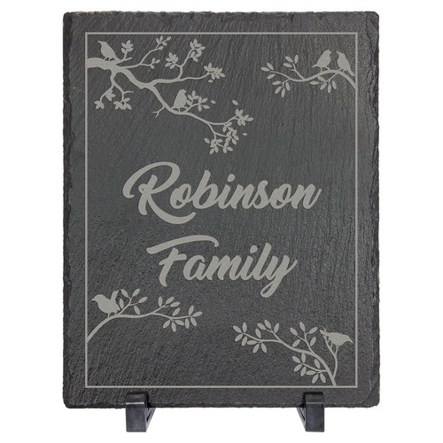 "8"" X 10"" Rectangle Slate Decor With Plastic Feet"