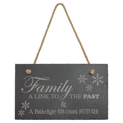 "11 3/4"" X 7"" Rectangle Slate Decor With Hanger String"