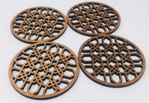 "4"" Wooden Round Coaster (Set Of 4 ) Hdc005"