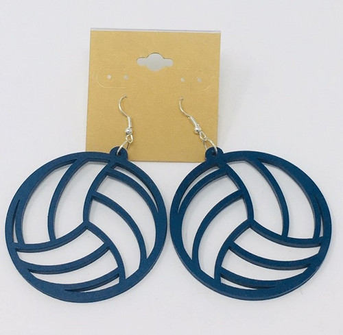 Volleyball Blue Earring