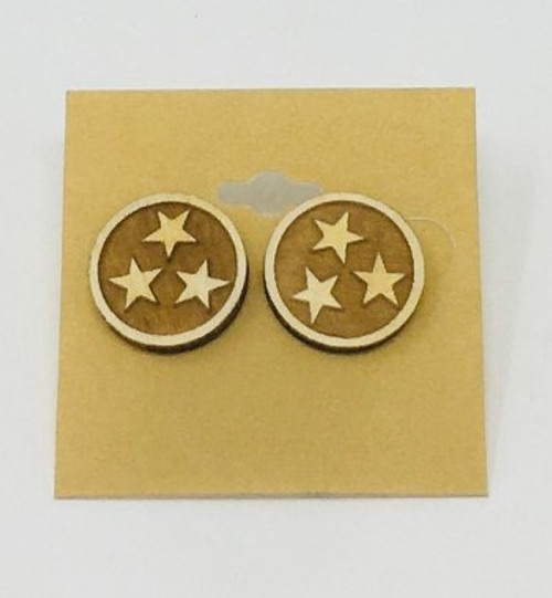 Tri-Star Earrings Natural