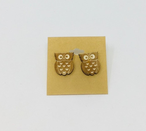 Owl Earrings Natural