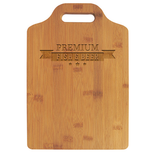 "13"" X 9"" Bamboo Cutting Board With Handle"