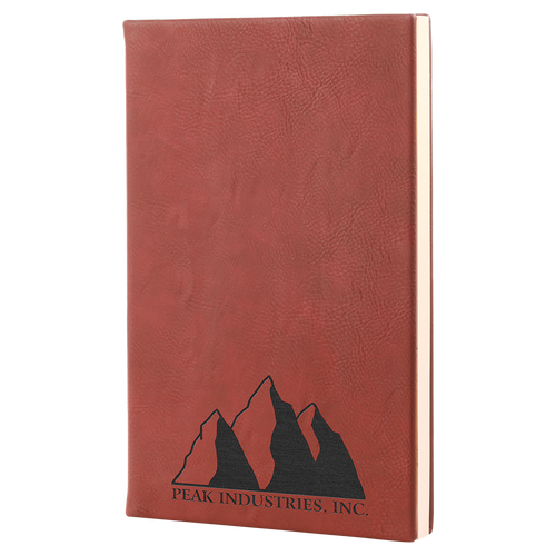 """5 1/4"""" X 8 1/4"""" Rose Laserable Leatherette Journal"""