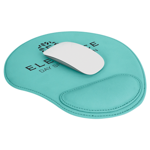 """9"""" X 10 1/4"""" Teal Laserable Leatherette Mouse Pad"""