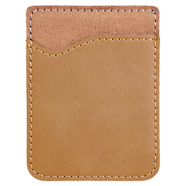 Light Brown Laserable Leatherette Phone Wallet