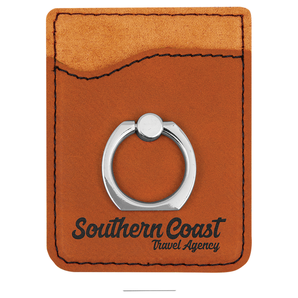 Rawhide Laserable Leatherette Phone Wallet With Silverr Ring