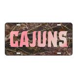Louisiana-Lafayette Tag (LASER CAMO/PINK CAJUNS TAG (45012))