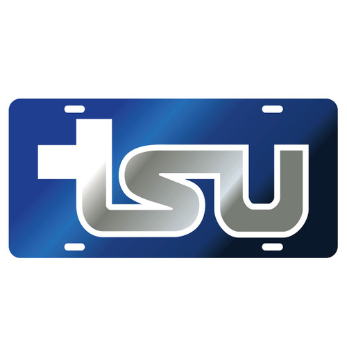 Tennessee State Tag (LASER BLU/WHT/SIL TSU TAG (28084))